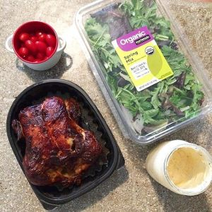 Rotisserie Chicken and Salad