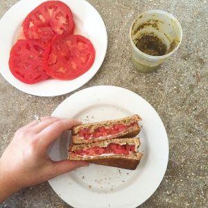Tomato Pesto Sandwiches