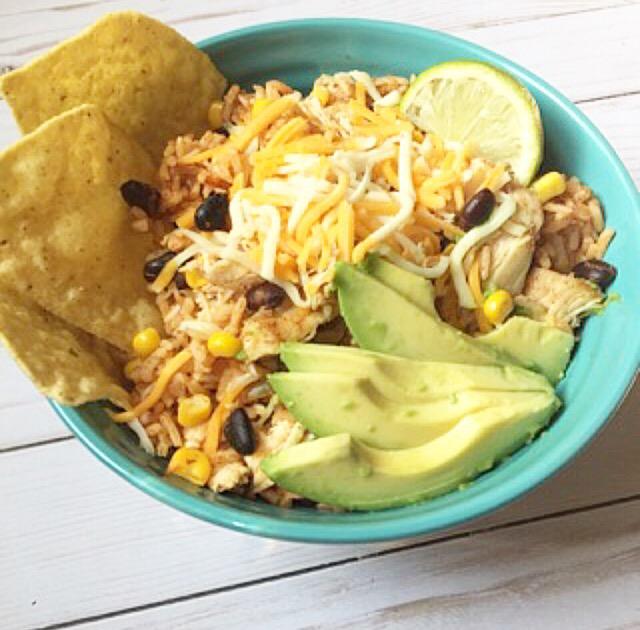 Chicken Taco Bowls Recipe: Chicken Taco Bowls (Instant Pot)