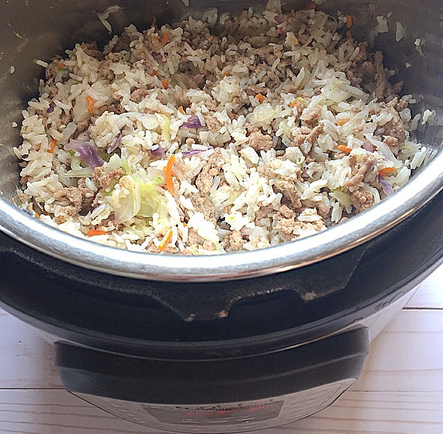 Instant Pot Beef, Cabbage, and Rice